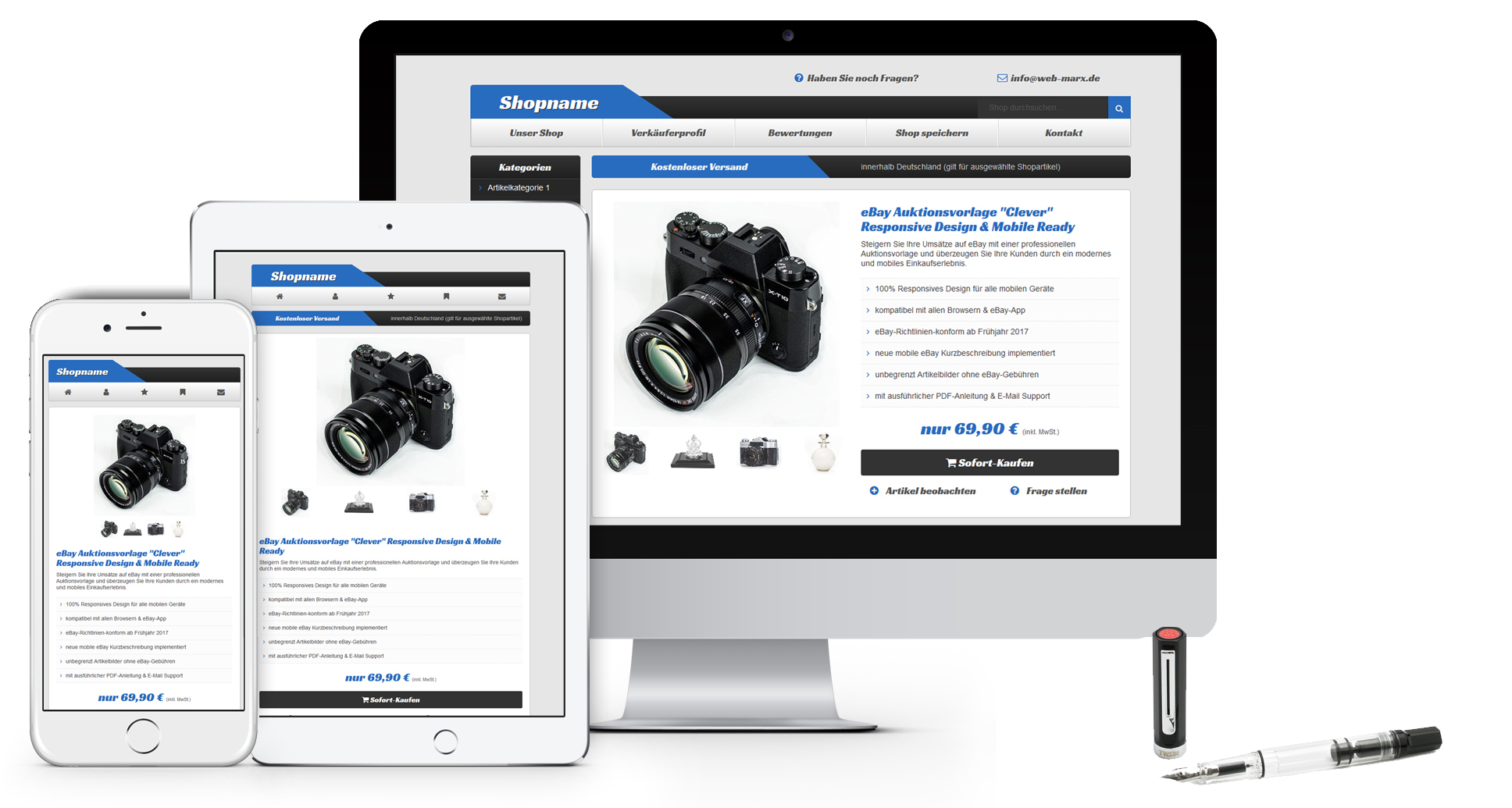 eBay Template Clever Responsive Mobile