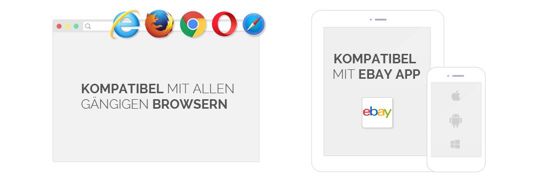 Browser Kompatibilität eBay App