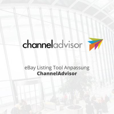 eBay Listing Tool Anpassung ChannelAdvisor