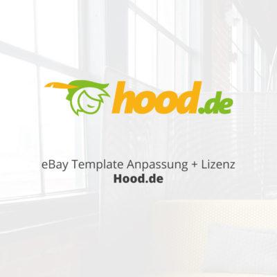 eBay Template Anpassung Lizenz Hood.de